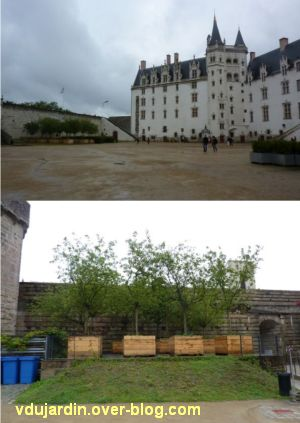 Nantes 2012, début du circuit en ville, 06, dans la cour du château