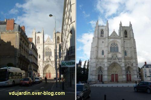 Nantes 2012, début du circuit en ville, 07, façade de la cathédrale