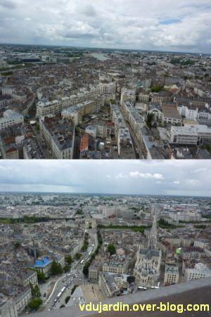 Nantes 2012, début du circuit en ville, 16, en haut de la tour Bretagne, deux vues