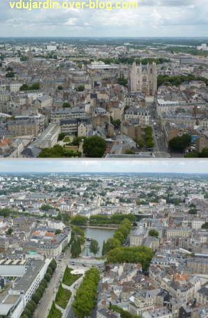 Nantes 2012, début du circuit en ville, 17, en haut de la tour Bretagne, deux vues