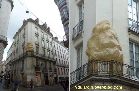 Nantes 2012, suite du circuit en ville, 02, sur le balcon de l'hôtel Pommeray