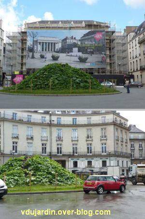 Nantes 2012, suite du circuit en ville, 03, place Graslin, opéra et légumes