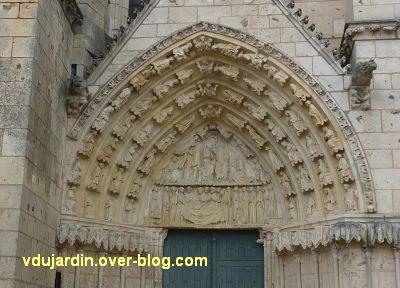 Poitiers, cathédrale, portail de la Vierge, 01, vue générale