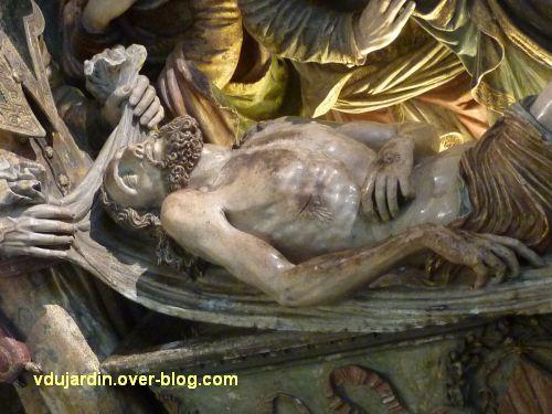 Mise au tombeau du 16e siècle à Notre-Dame-la Grande à Poitiers, 2, le Christ