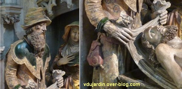 Mise au tombeau du 16e siècle à Notre-Dame-la Grande à Poitiers, 3, l'homme à gauche