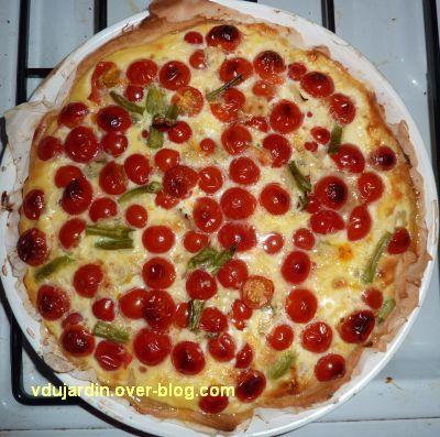 Quiche aux tomates cerises, après cuisson
