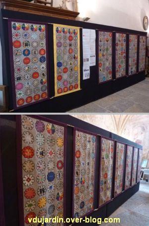 Ruffey-sur-Seille, les bannières de Cluny présentées au prieuré Saint-Christophe, 2, deux vues