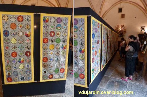 Ruffey-sur-Seille, les bannières de Cluny présentées au prieuré Saint-Christophe, 3, deux vues