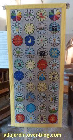 Ruffey-sur-Seille, les bannières de Cluny présentées au prieuré Saint-Christophe, 4, la bannière