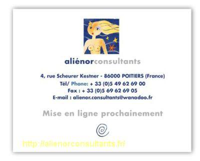 page d'accueil d'Alienor consultants, saisie d'écran du 19 septembre 2012