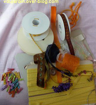Mes achats à la brocante des Trois-Rois, septembre 2012, rubans, passementerie et accessoires