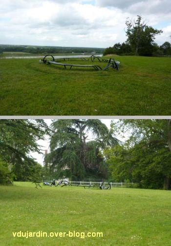 Chaumont-sur-Loire 2012, oeuvre de Pablo Reinoso, 3, dans le parc