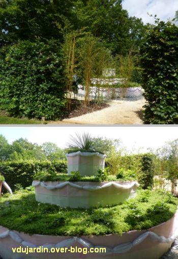 Chaumont-sur-Loire, festival des jardins 2012, jardin 11, 1, l'entrée et le gros gâteau