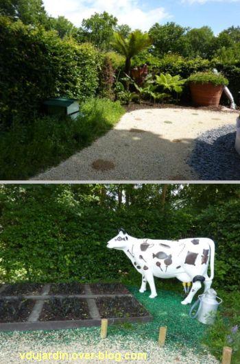 Chaumont-sur-Loire, festival des jardins 2012, jardin 11, 2, vache et abeilles