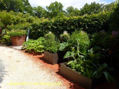 Chaumont-sur-Loire, festival des jardins 2012, jardin 11, 3, carrés et sucettes