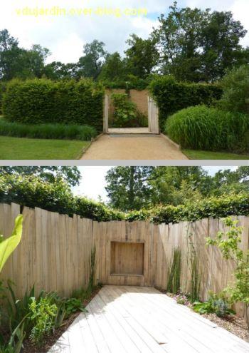 Chaumont-sur-Loire, festival des jardins 2012, jardin 17, 1, l'entrée et couloir en bois