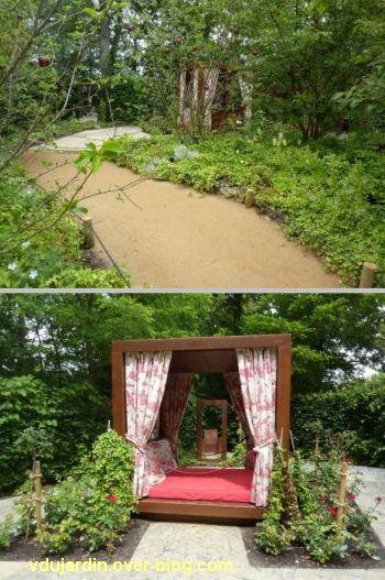 Chaumont-sur-Loire, festival des jardins 2012, jardin 19, 1, l'entrée et le lit