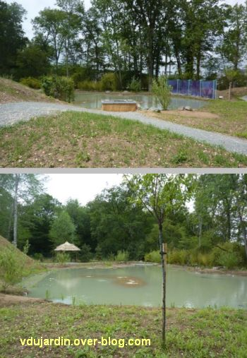 Chaumont-sur-Loire 2012, pré du Goualoup, 2, Hualu, ermitage sur Loire, deux vues