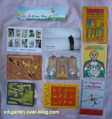 Reçu de Dalinele en septembre 2012, 4, cartes à publicité