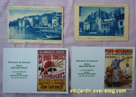 Reçu de Dalinele en septembre 2012, 6, cartes anciennes et copies d'anciennes
