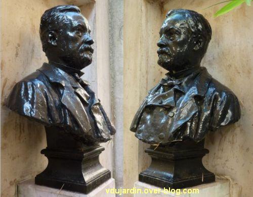 Louis Pasteur à Dole, 03, buste près de la maison natale