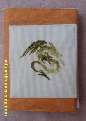 Un tissu, deux finitions, 3, un carnet dragon