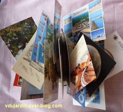 Mon livre hérisson plein de cartes reçues pendant l'été 2012