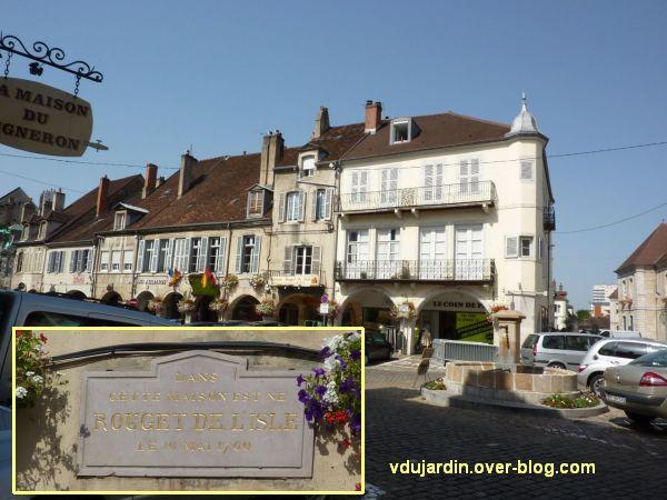Lons-le-Saunier, monument à Rouget-de-l'Isle, 01, maison natale