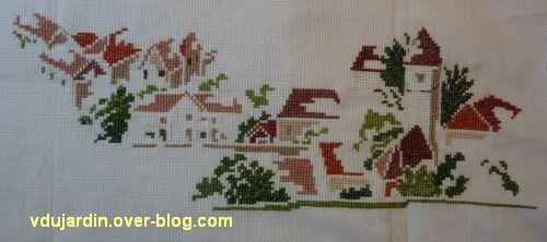 Le village de Nans-sous-Sainte-Anne vu par MTSA, ma broderie, étape 4