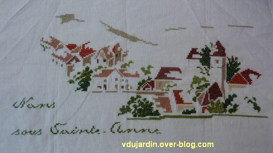 Le village de Nans-sous-Sainte-Anne vu par MTSA, ma broderie, étape 5
