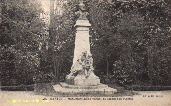 Jules Verne au jardin des plantes de Nantes, 5, carte postale ancienne, vue générale