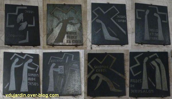 Niort, le chemin de croix de l'église Saint-Hilaire par Rosine Sicot, stations 1 à 8