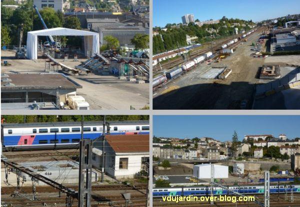 Poitiers, passerelle des Rocs, 5, fin septembre 2012, construction engagée