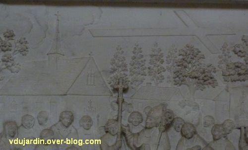Monument de Jean-Baptiste de Bouillé dans la cathédrale de Poitiers, 5, détail du relief