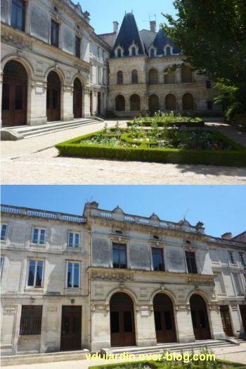 La Rochelle, maison Henri II, 01, élévations sur cour