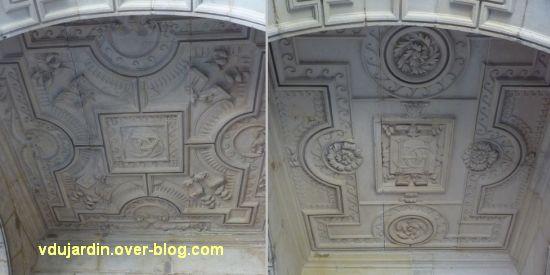 La Rochelle, maison Henri II, 08, deux autres plafonds de la galerie