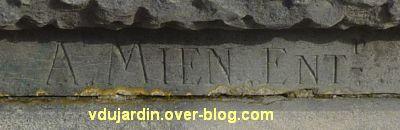 Angoulême, monument à Sadi Carnot, 4, signature de Mien entrepreneur