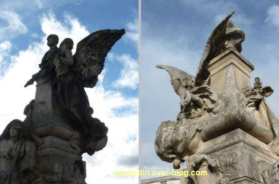 Angoulême, monument à Sadi Carnot, 7, deux vues de l'allégorie du haut