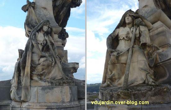 Angoulême, monument à Sadi Carnot, 8, vues de l'allégorie du bas