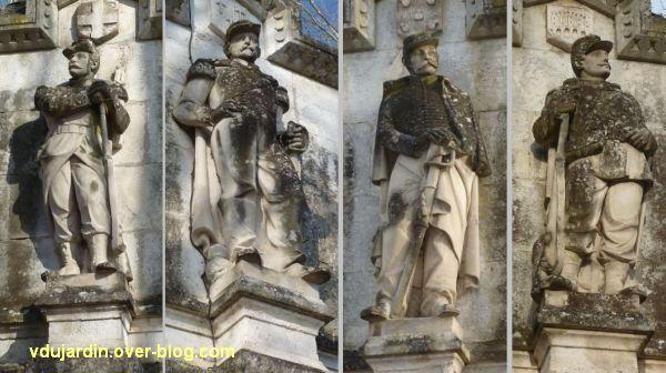 Cahors, monument aux mobiles du Lot (morts de 1870), 4, les quatre soldats debout