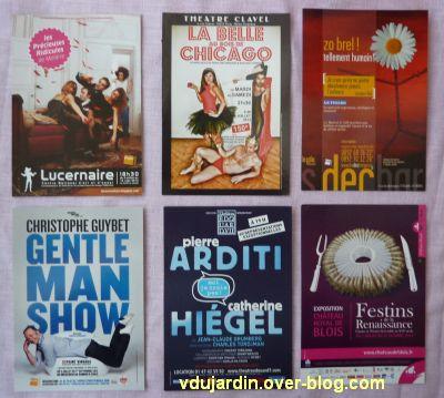 Capucine en août-septembre 2012, 1, cartes à publicité