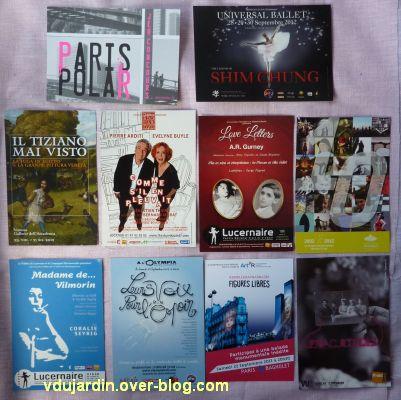 Capucine en août-septembre 2012, 2, cartes à publicité