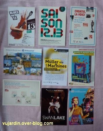 Capucine en août-septembre 2012, 7, cartes à publicité
