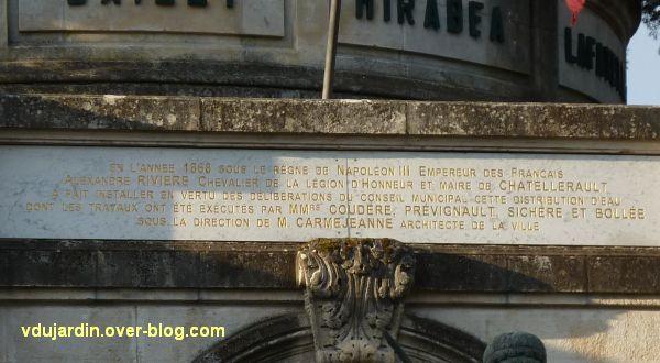 Châtellerault, monument à la révolution et aux morts de 1914-1918, 03, inauguration du château d'eau