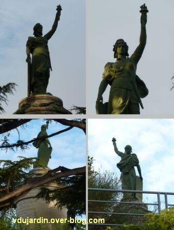 Châtellerault, monument à la révolution et aux morts de 1914-1918, 07, la Révolution, 4 vues