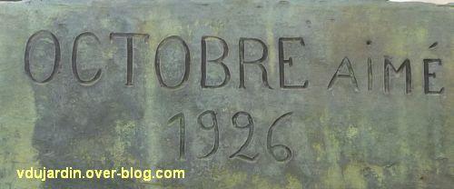 Châtellerault, monument à la révolution et aux morts de 1914-1918, 10, signature Aimé Octobre