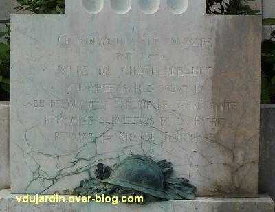 Châtellerault, monument à la révolution et aux morts de 1914-1918, 12, dédicace