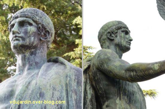 Châtellerault, monument à la révolution et aux morts de 1914-1918, 14, tête du soldat