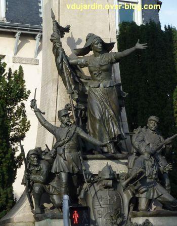 Limoges, monument aux morts de 1870, 3, les groupes sculptés
