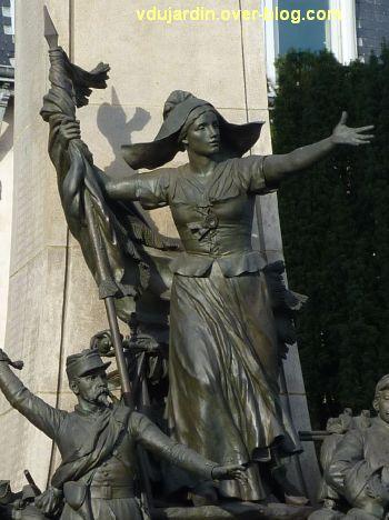 Limoges, monument aux morts de 1870, 6, la femme